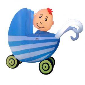 Opblaasbare Kinderwagen Blauw Huren