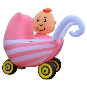 Opblaasbare Kinderwagen Roze Huren